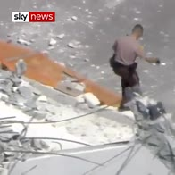 Cars trapped after deadly bridge collapse