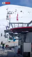 Skiers hurled into air by runaway lift