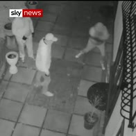 Hunt for raiders who attacked family