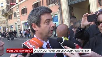 Pd, Orlando a Renzi lasci lavorare Martina