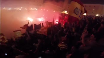 Lecce promosso in Serie B, grande festa in città