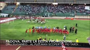 Il Padova festeggia la festa promozione all'Euganeo