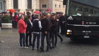 Finale Coppa Italia, l'arrivo del Milan al Quirinale