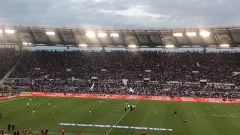 Lazio-Inter, l'attesa dello stadio Olimpico