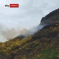 Fire at Edinburgh landmark Arthur's Seat