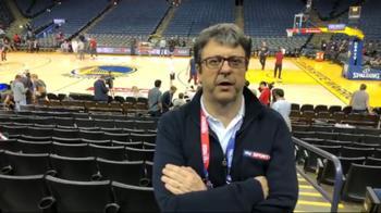 NBA, Flavio Tranquillo alla Oracle Arena su Warriors-Cavs