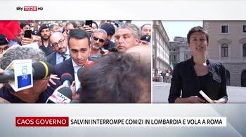 Salvini annulla impegni e va a Roma