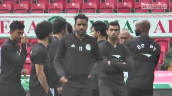 Salah limited in Egypt training