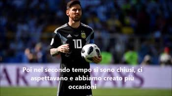 """Messi: """"Dispiace aver sbagliato il rigore"""""""