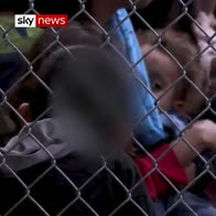 Children seen in cages at US centre