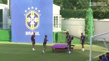 Neymar missing as Brazil train