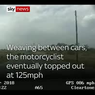 Police in 125mph motorcycle chase