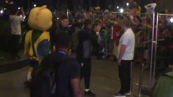 Il Brasile ringrazia i tifosi per l'accoglienza: la festa