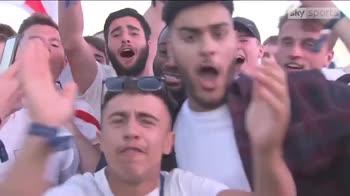 Reporter vs England fans!