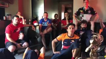 Marquez, dopo la gioia la delusione per la Spagna: il video