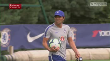 Conte takes Chelsea training