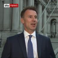 Hunt promises a 'dependable' Britain