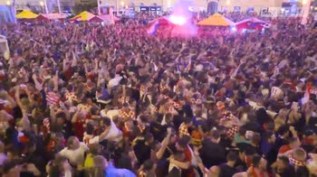 Croatia fans celebrate equaliser