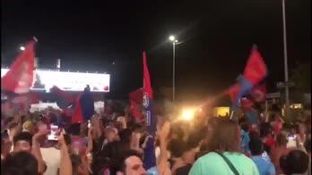 Catania in B: è festa anche in città