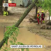 French campsite destroyed by flood