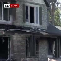 Man crashes plane into own home