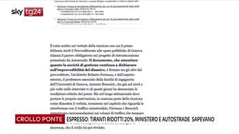 Genova, Espresso: tiranti ridotti del 20 per cento