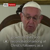 Pope's prayer for 'unity and reconcilliation'