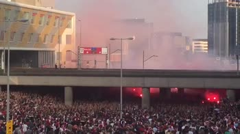 """Ajax, la """"pacatezza"""" dei tifosi prima della Dinamo"""