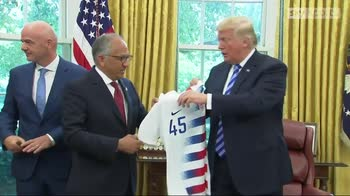 Trump meets Infantino at White House