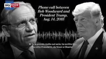 Nuovo libro su Trump, diffuso l'audio della telefonata tra Woodward e il presidente