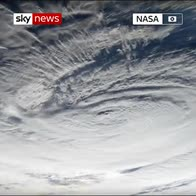 ISS flies over Hurricane Florence