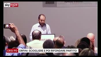 Pd, Orfini: sciogliere il partito e rifondarlo