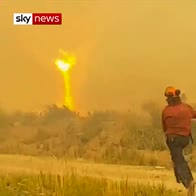 Hose pulled 100 ft away by 'Firenado'