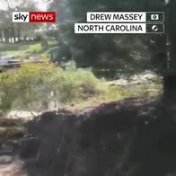 What Florence did to N Carolina road