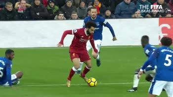 Salah: il gol all'Everton il più bello del 2018