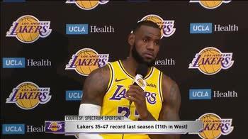 """""""LeBron, cosa ti mette sotto pressione?"""". """"Niente""""."""