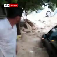 Cars swept away in Tunisian flash floods