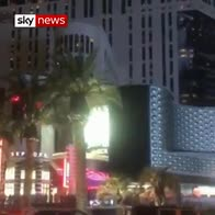 Vegas goes dark on shooting anniversary
