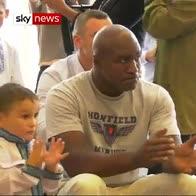 Boxing champions visit children's home