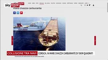 Collisione tra navi al largo della Corsica, allarme ambientale