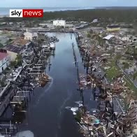 Drone reveals aftermath of 'monster' hurricane