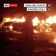 Blaze at Italian port destroys luxury cars