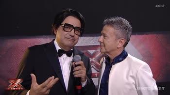 Elio e Pupo nel backstage di X Factor