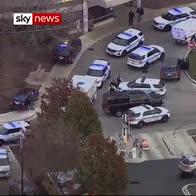 Ambulance leaves hospital with police escort