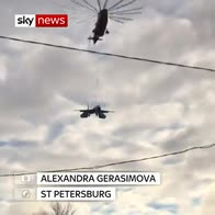Russian fighter plane moved to St Petersburg