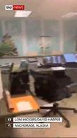 Office shakes as earthquake strikes