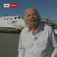 Sir Richard Branson's joy at space flight
