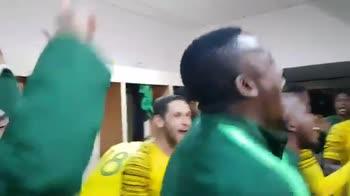sudafrica festa spogliatoio coppa d'africa