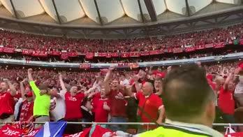 Finale Champions, subito Salah: la gioia dei tifosi Reds
