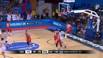 EuroBasket Donne, la tripla di Romeo sblocca l'Italia